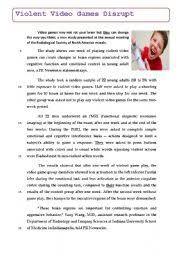 english teaching worksheets video games