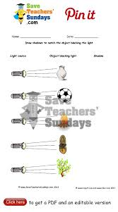 light and shadows lesson plans draw shadows in the shape of objects blocking light go to http