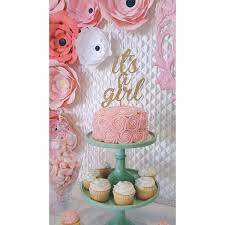baby shower cake toppers girl it s a girl it s a girl cake topper baby shower cake topper