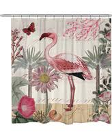 Botanical Shower Curtains Amazing Deal On Botanical Stripes Shower Curtain