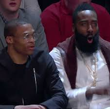 Damn Meme Gif - shocked james harden gif by nba find share on giphy