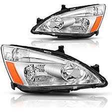 2004 honda accord headlights amazon com 2003 2004 2005 2006 2007 honda accord 4 door sedan or