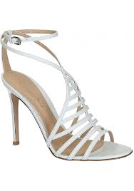 gianvito rossi high heel sandals in white calf leather italian