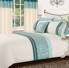 teal u0026 cream colour stylish matallic floral diamante duvet cover