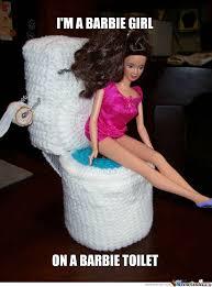 Funny Barbie Memes - barbie toilets are woollen by cowfreak meme center