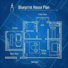 blueprint for house blueprint house plan graphics creative market