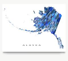 Alaska State Map by Alaska Map Print Ak State U2013 Maps As Art