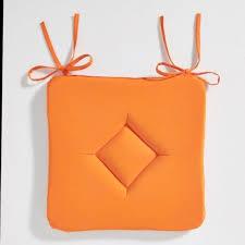 galette de chaise style campagne galette de chaise 40x40 orange achat vente galette de chaise