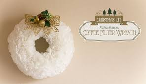 diy christmas coffee filter wreath adorno navideño youtube