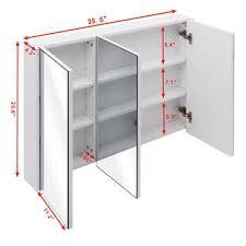 3 Door Mirrored Bathroom Cabinet by Goplus 36