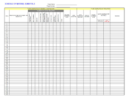 Construction Take Off Spreadsheets Submittal Log Template Job Stuff Pinterest Logs Microsoft