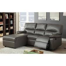 Leather Motion Sectional Sofa Acme United Artha Gray Bonded Leather Motion Sectional Sofa Chaise