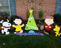 Charlie Brown Christmas Tree Lawn Ornament by Charlie Brown Christmas Yard Art Etsy