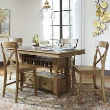 Pub Height Dining Room Sets Signature Design By Ashley Trishley Counter Height Dining Table