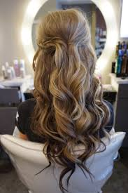 curly hairstyles half up half down pretty half updo hairstyles for