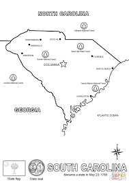 map of south carolina coloring page free printable coloring pages