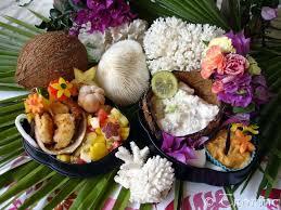 cuisine tahitienne traditionnelle bento carte postale de polynésie française trucs et bidules de trotine