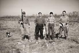 1950s Decor Rabbit Hunters 1950s Beagles Guns Original Image History