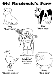 macdonald had a farm coloring pages