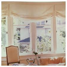 Mock Roman Shade Valance - custom relaxed faux roman shade valance natural cotton canvas