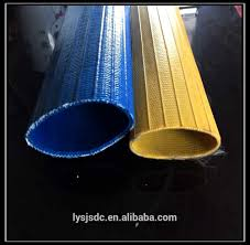 red yellow and blue color pvc heavy duty laflat discharge hose