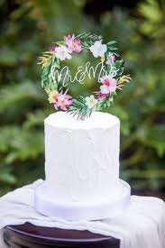 tropical wedding cake topper u2013 z create design