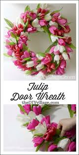 Tulip Wreath Tulip Door Wreath Thediyvillage Com