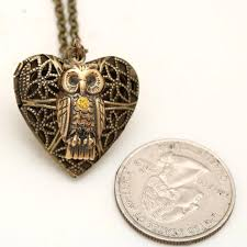 steampunk owl necklace images Steampunk owl locket owl necklace with working compass inside jpg