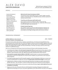 Sample Resume Content by Web Producer Resume Samples U0026 Examples