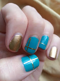 nail art challenge september 4 gold u0026 teal nood mood