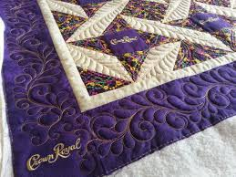 a very feathery u201ccrown royal u201d quilt kelly cline quilting