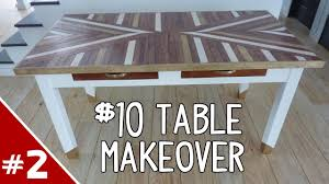 tile table top makeover 10 table makeover part 2 of 2 youtube