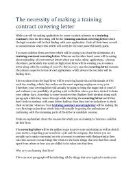 covering letter training contract elementary