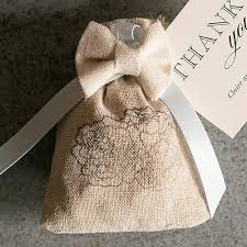 burlap wedding favor bags drawstring wedding party favor burlap candy cake weddings