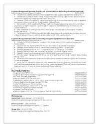 Resume Sample Logistics by Ses Resume Examples Free Resume Example And Writing Download