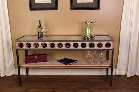 Black Console Table With Storage Wine Rack Canterbury Oak Console Table With Wine Rack Black
