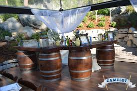 Whiskey Barrel Kitchen Table Wine Barrel Bar Camelotpartyrentals Biz Weddings Pinterest
