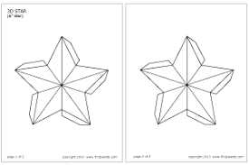 3d star printable templates u0026 coloring pages firstpalette