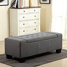 amazon com simpli home castleford rectangular storage ottoman