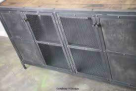 Metal Bar Cabinet Liquor Cabinet Bar Vintage Modern Industrial Reclaimed Wood Top