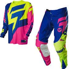 shift motocross gear shift mx facción mx jersey pantalón bundle le a1 reed fluo