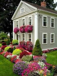 Inspiring House Exteriors And Ideas For Summer Decorating With - Flowers home decoration