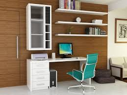 office interior long brown wooden corner desk with drawers