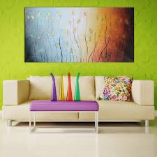 120x60cm leaves abstract wall art painting canvas print picture