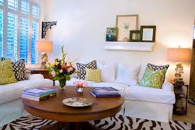 Zebra Side Table Coffee Table Decorating Ideas Family Room Traditional With Wall