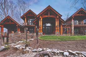 designed with heavy timber mountain homes commonly found in the