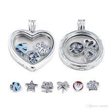 crystal glass pendant necklace images Wholesale real 925 sterling silver floating locket pendant jpg