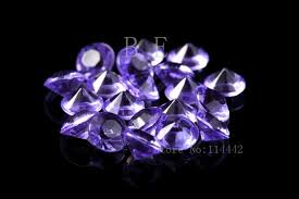 10mm diamond 1000pcs lot 10mm 4 carat lilac wedding table scatter
