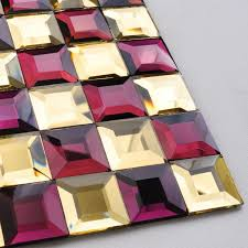 Mirrored Mosaic Tile Backsplash by Mosaic Tile Kitchen Backsplash Purple U0026 Gold Mirror Tiles Diamond