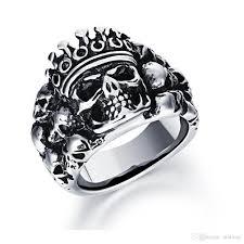 classic skeleton ring holder images Vintage punk rock stainless steel skeleton crown king ring band jpg